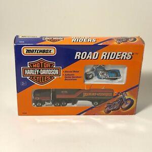Matchbox Road Riders Harley-Davidson Motorcycle Transporter Diecast 76240 B45