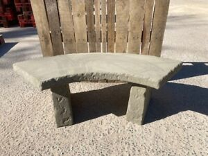 Concrete curved Garden Bench 4ft . Price includes del ( some exceptions )