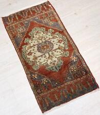 """Malatya Carpet Doormat, 20.5""""x49.2"""", Turkish Doormat, Handmade Vintage Doormat"""