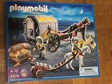 PLAYMOBIL 4874 Carro del Tesoro Caballeros Leon Chevalier Lion Cavaliere Leone