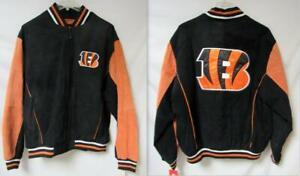 Cincinnati Bengals Mens Size 2X-Large Suede Leather Jacket A1 2648