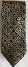 Banana Republic MADE IN ITALY Soft Blue, Yellow, Green Floral SILK Tie