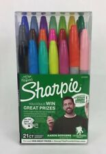 21 Sharpie Markers Set With Aaron Rodgers Autographed Green Marker. Charitable