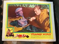 Strange World 1952 United Artists lobby card Helmuth Schneider  crocadile