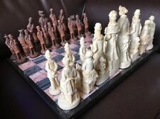 SHERLOCK HOLMES VS MORIARTY EDITION  HANDCRAFTED RARE CHESS SET Pieces Only