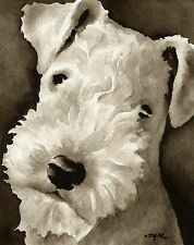 Lakeland Terrier note cards by watercolor artist Dj Rogers