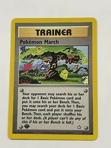 First 1st Edition Pokemon March Trainer Card Neo Genesis 102/111 Near Mint Hot!