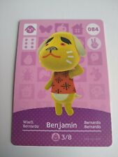 Benjamin #084 Animal Crossing Amiibo Card Series 1 Nintendo Switch 3DS Wii U