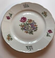 "Europa Fine Porcelain Made In Czechoslovakia ""BOUQUET"" 7"" Salad Plate"