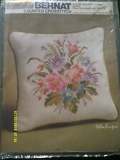"Bernat ""Autumn Bouquet"" Cross Stitch Kit Size 13"" x 13"""