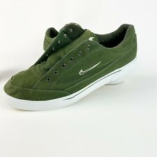Vintage Nike Gts Trainers / Sneakers made in 1999 142003 313 00 Green Canvas
