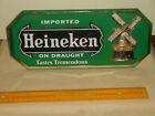 Vintage Imported Heineken On Draught 3D Plastic Easel Back Bar Wall Sign Holland