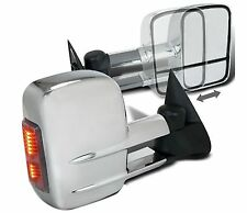 BettaView® Extendable Towing Mirrors Ford Ranger Chrome With Indicators Pair