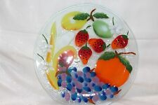 "FUSION ART GLASS FRUIT MEDLEY 11"" WILLIAM Mc GRATH"" With Original Box"
