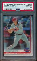2019 Topps On Demand 3D #472 Scott Kingery PSA 10 Gem Mint SP /540