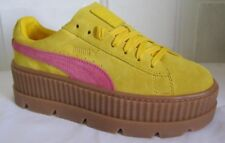 Puma Cleated CreeperSuede By Rihanna Yellow Women Walking Shoes 7.5