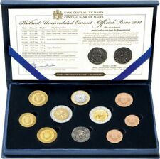 Malta 2012 2 Euro Satz Gedenkmünzen UNC mit Zertifikat - Offizielles Proof Set