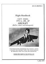 CHANCE-VOUGHT F7U-3 CUTLASS / TAIL-LESS JET FIGHTER / FLIGHT HANDBOOK