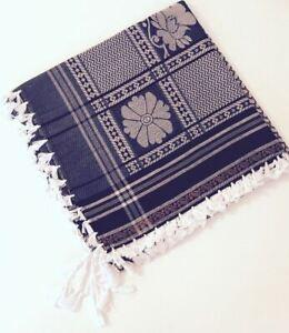 "luxury arab 50"" shemagh scarf men women large palestine arfat head islam fashion"
