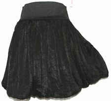 M Cute Black Puffy Cosplay Emo Gothic Goth Lolita Steam Punk Bubble Mini Skirt
