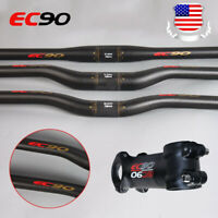 EC90 MTB Handlebar 25.4/31.8*660-760 Carbon Mountain Bike Bicycle Flat/Riser Bar