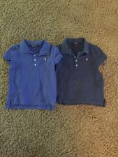 Lot of 2 girls' size 6 purple and blue Ralph Lauren Polo short sleeved shirts