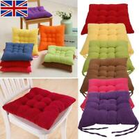 Chair Cushions Seat Pad Dining Room Garden Kitchen Home Office Patio With Tie UK