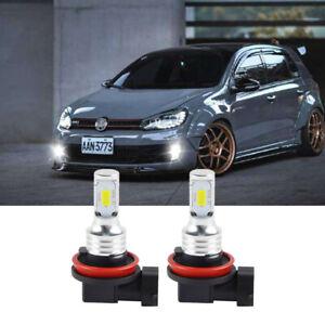 LED Fog Lights H11 Bulb White Light Fit for VW GTI MK6 Golf MK5 Touareg Scirocco