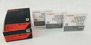 Canon VF-50 Video Floppy Disk Factory Sealed Still Video Floppy Disk Lot of 3