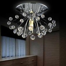 Crystal Chandelier Light Fixture Mounted Home Ceiling Modern Fixtures Decoration