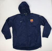 Vintage Nike FC Barcelona Jacket Adult XL Navy Blue Soccer Futbol