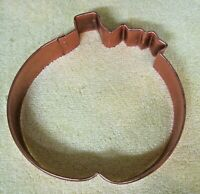 Extra Large Copper Pumpkin Halloween Thanksgiving Cookie Cutter 5 Inches  T25