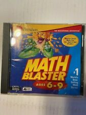 Davidson Learning advantage Software Math Blaster age6-9 Pc or Mac Free Shipping