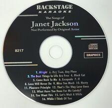 BACKSTAGE KARAOKE JANET JACKSON CD+G 16 TRACKS VOLUME 8217