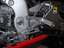 2008-2010 Aprilia RSV4 Full Rearset kit, Clear Anodized - 05-0740B