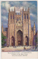 Washington Church Cathedral D.C. DC Artist Signed Postcard AS C. Durand Chapman