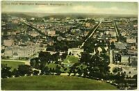 1910's Aerial Bird's Eye View From Washington Monument DC Vintage Postcard