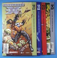 Ultimate X-Men #21-25 Hellfire and Brimstone Parts 1-5 Marvel Comics 2002 Set