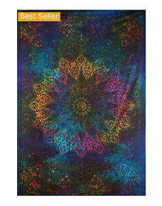 Tapestry Mandala Colorful Floral Wall Hanging Bohemian Bedspread Throw Art Decor