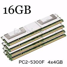 16GB 4x4GB DDR2 PC2-5300F 667MHz DIMM 240PIN CL5 ECC Server RAM Memory Desktop