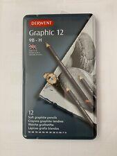 Derwent Graphic Crayons 12 Tin-dessin et croquis doux, Moyen Ou Dur Set