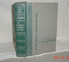 ECONOMICS INTRODUCTION TO ANALYSIS AND POLICY GEORGE BACH 1954 HARDCOVER VG