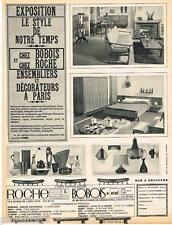 PUBLICITE ADVERTISING 095  1964  ROCHE & BOBOIS  meubles