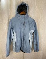 Columbia Women's Blue Hooded Omni-Tech Waterproof Windbreaker Jacket Size Medium