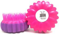 Serenade - Twin Pack De Tangle Teaser Flower Design Hair Brush - Pink and Purple