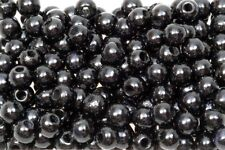 Holzperlen 5 mm schwarz glänzend, 500 Stück