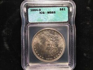 1884-O $1 Morgan Silver Dollar. ICG MS65 BLAST WHITE