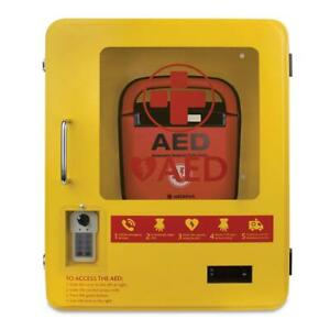 AED Outdoor Steel Cabinet - Lockable with Digital Key Code Pad