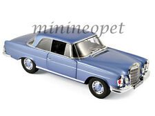 NOREV 183532 1969 MERCEDES BENZ 280 SE COUPE 1/18 DIECAST LIGHT BLUE METALLIC