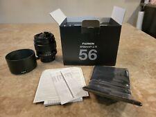 New ListingFuji Xf 56mm F1.2 R Lens Fujifilm Fujinon Black with 62mm Uv Protection Filter